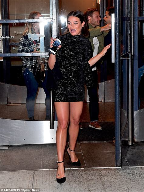 Lea Michele dons LBD after Watch What Happens Live in NYC ...