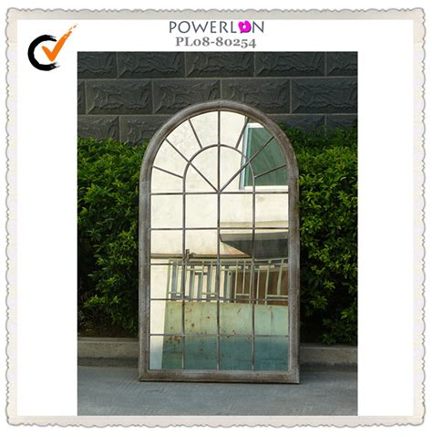 outdoor metal frame trellis decorative wall mirror