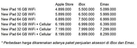 daftar harga  ipad  indonesia olengk blogs