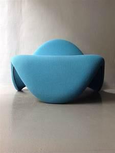 Fauteuil Bleu Turquoise : fauteuil tongue bleu turquoise pierre paulin ann es 70 design market ~ Teatrodelosmanantiales.com Idées de Décoration