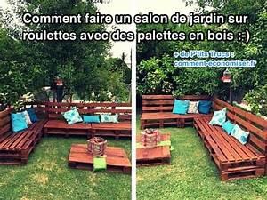 Salon De Jardin Palettes : comment faire un salon de jardin sur roulettes avec des ~ Farleysfitness.com Idées de Décoration