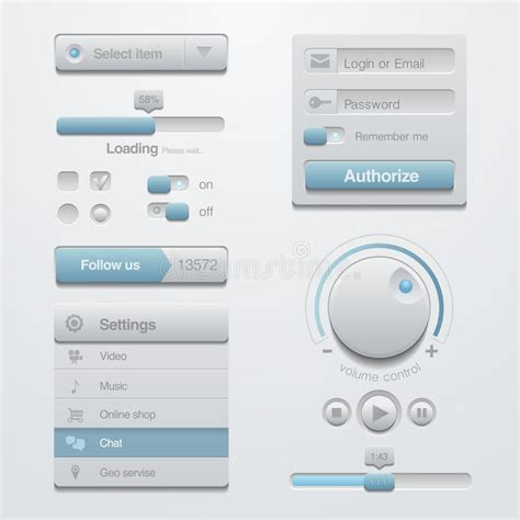User Interface Design Document Template by User Interface Design Elements Template Kit For A Stock