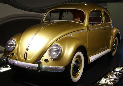 gold volkswagen beetle public domain photos and images the jeweled one millionth