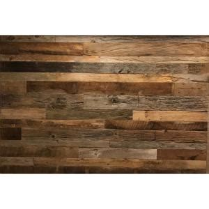 ft random width      sq ft browngrey barnwood planks decorative