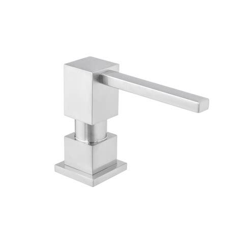 3311 square soap dispenser square shape all metal construction deck countertop