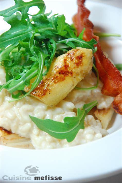 asperge cuisiner risotto aux asperges blanches du blayais cuisine metisse