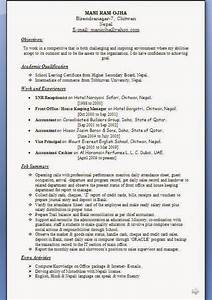 12 Pass Resume Format