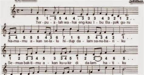 lagu hymne guru beserta not angka terbaru perubahan lirik lagu hymne guru pahlawan pembangun insan cendekia reportase guru