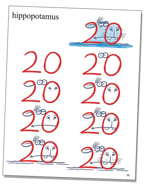 drawing  numbers ideas  pinterest number