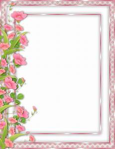 Pink Transparent Png Frame With Flowers Yopriceville