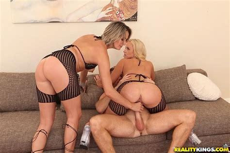 stunning blond babes in a wild threesome sex photos dee siren milf fox