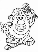 Coloring Potato Mr Head Pages Cartoon Senses Clip Printable Cartoons Plumber Clipart Popular Cliparts Panda Fun Train sketch template