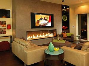 Photo page hgtv for Living room with fireplace and tv
