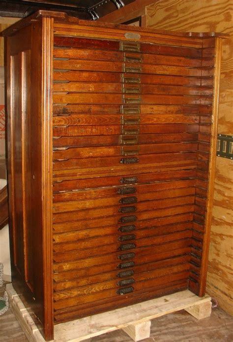 Printers Type Cabinet by Antique Hamilton Porter Extension Oak Printers Type File