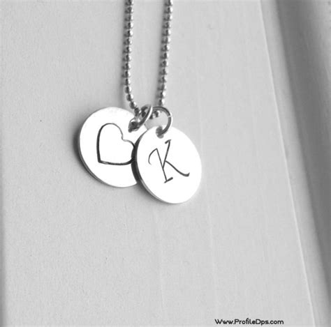 Heart Name Alphabets Necklace Profile Pictures For Fb