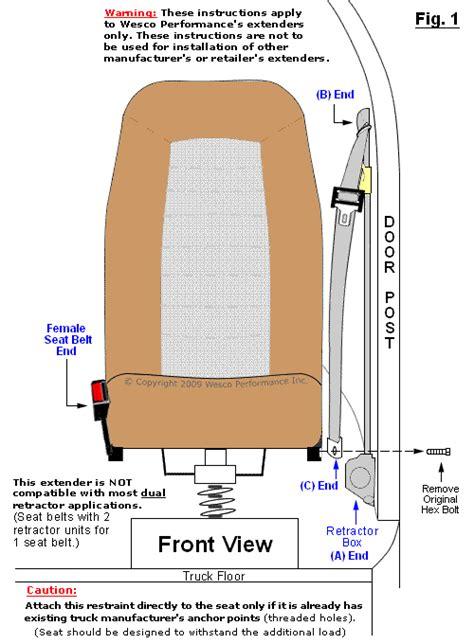 big rig seat belt extender installation instructions