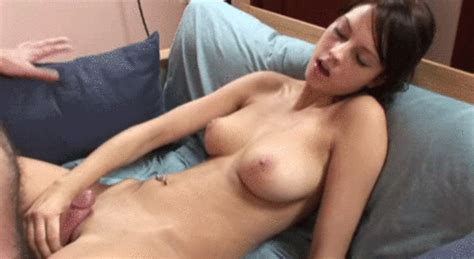 Sweet Brunette Rubs Her Pussy With A Cock Porn