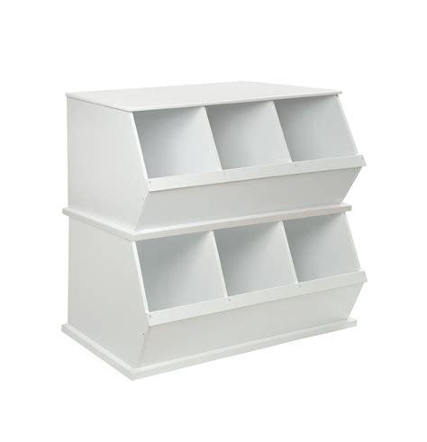 badger basket storage three bin stackable storage cubby in white home bedroom 9634