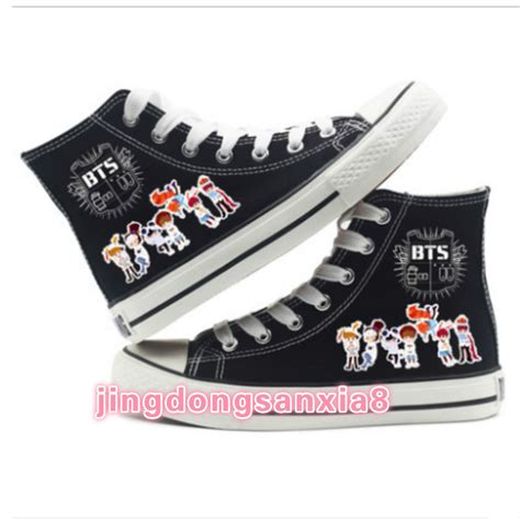 bts anime list new anime bts high top canvas shoes casual unisex ebay