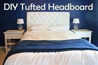 diy tufted headboard DIY Tufted Headboard Tutorial | DIY Furniture | Pinterest