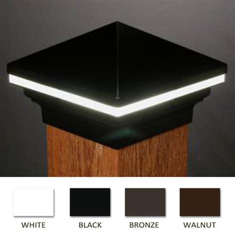 iris led low voltage deck light 6x6 wood posts