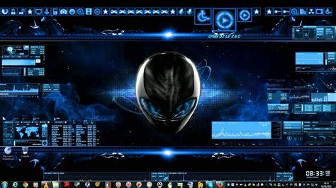 pc de bureau alienware mon bureau pc futuriste windows 7 poetegamer