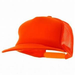 Neon Orange Mesh Trucker Cap 1465 Private Island Party