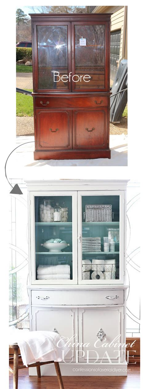 thrift store china cabinet thrift store china cabinet makeover confessions of a