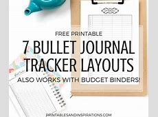 Free Printable Bullet Journal Tracker Layouts Printables