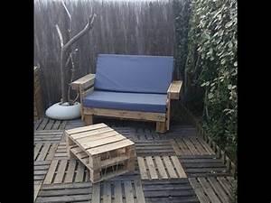 Salon De Jardin En Palette Tuto : fabriquer un salon de jardin en bois avec palettes ~ Dode.kayakingforconservation.com Idées de Décoration