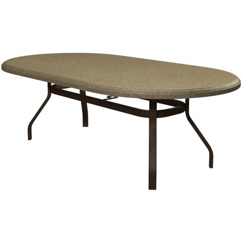 homecrest aluminum patio dining table with boulder faux