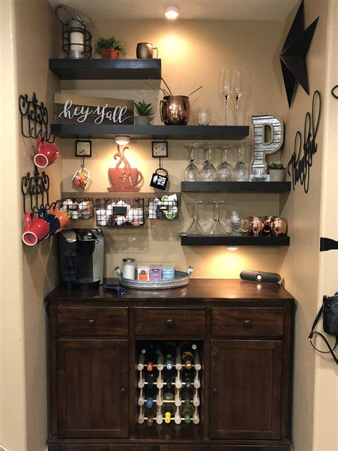 Small Wine Bar Ideas by Created My Coffee Wine Bar So Pleased How It Turned Out