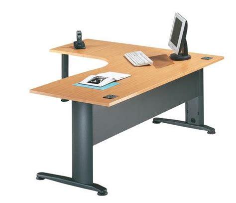 bureau avec caisson dossier suspendu bureau d 39 angle avec retour gauche et pied l1600 modèle hêtre