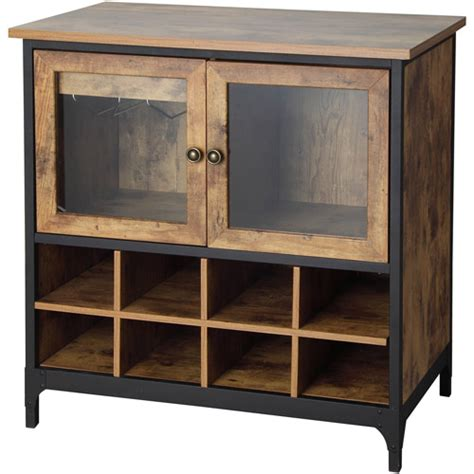 better homes gardens rustic country wine cabinet pine