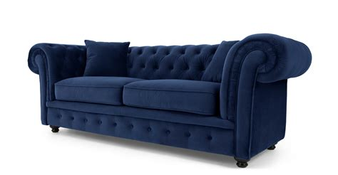 canap chesterfield branagh 2 seater chesterfield sofa electric blue velvet