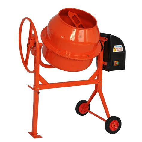 cement mixer electric cement mixer 140l litre 240v volt 650w portable concrete mortar plaster ebay