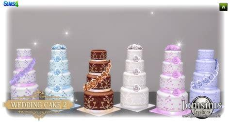 wedding cake set  jomsims creations sims  updates