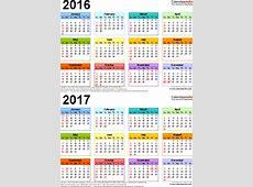 20162017 Calendar free printable twoyear Excel calendars