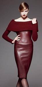 Center Cut Sleeveless Wrap Pencil Skirt Leather Dress u2013 Designers Outfits Collection