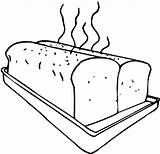 Coloring Pages Toast Bread Bakery Trending Days Last sketch template