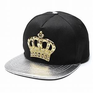Unisex Men Women Snapback Bboy Hats Crown Baseball ...