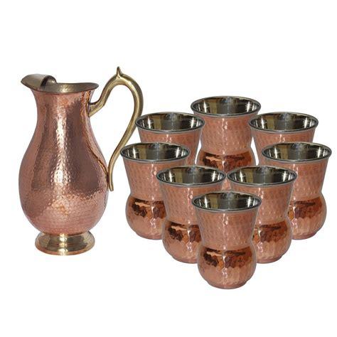 copper drinkware kitchen tumbler dakshcraft jug utensils mughlai