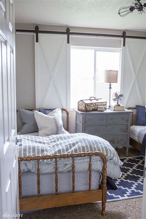 navy  ticking boys room blogger home projects  love