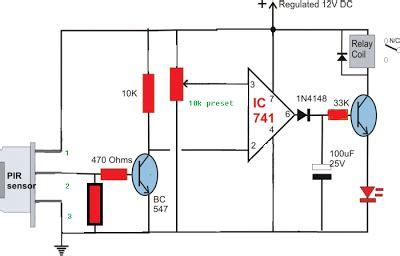 Simple Circuit Diagram Using Pir Sensor Senzor