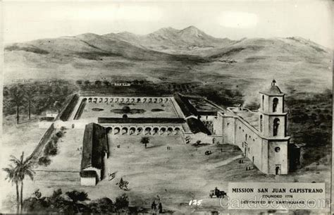 mission san juan capistrano founded  destroyed