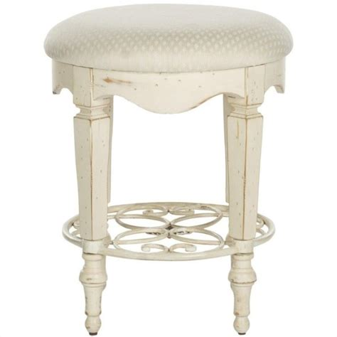 safavieh antique vanity stool in white amh4007a