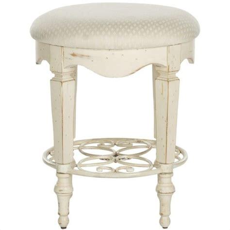 white vanity stool safavieh antique vanity stool in white amh4007a