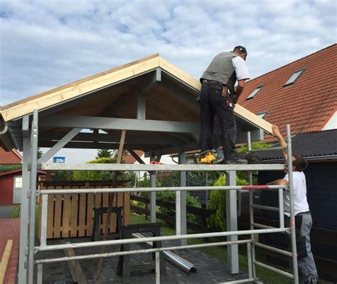 Carport Dacheindeckung  Mollys Blockhausprojekt