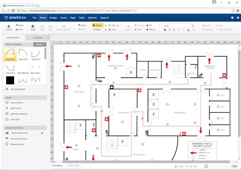 draw a floor plan logos images smartdraw software