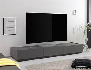 Meuble Tele Gris : meuble tv bas gris ~ Teatrodelosmanantiales.com Idées de Décoration